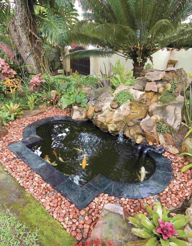 Fibreglass koi ponds for Small pond water feature