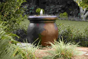 Cannes self contained water feature pot