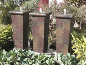 Sydney tall water feature pots