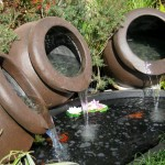 Venice x3 water feature pots